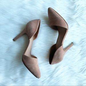 Madewell Blush Taupe D'Orsay Heels Size 9.5